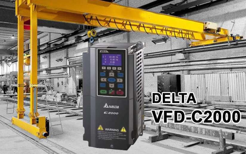 Biến tần C2000 & bộ tái sinh năng lượng REG2000 của Delta cho Cẩu trục