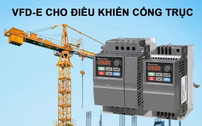 Ứng dụng biến tần VFD-E cho điều khiển cổng trục