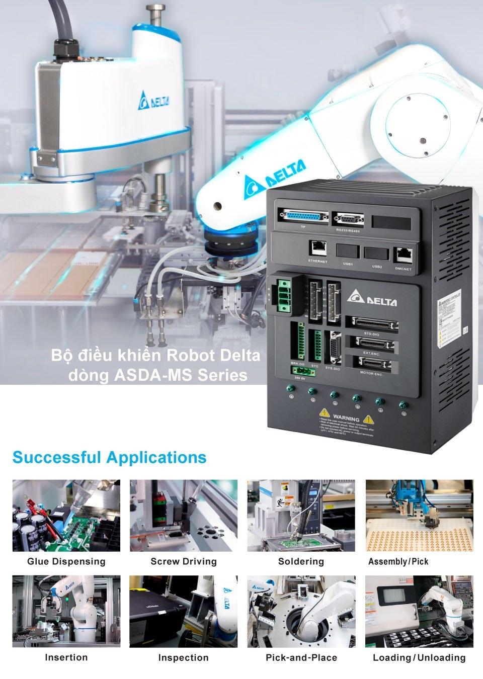 Robot controller ASDA-MS Series - Giải pháp tối ưu cho các ứng dụng Robot