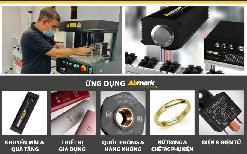Công nghệ CO2 laser, Fiber laser, DPSS laser của Abmark - Ứng dụng trong in, khắc tem nhãn sản phẩm