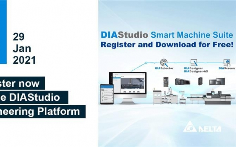 A New Year's Gift from Delta! The Newly Launched DIAStudio Smart Machine Suite is Free for Registration and Download Now