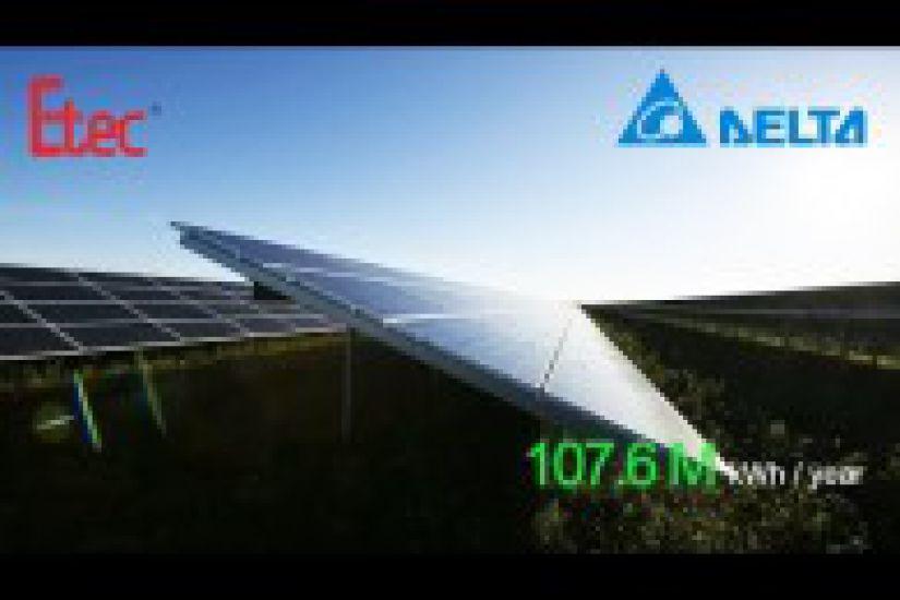 Dự án thành công của Delta - Biến tần PV cho dự án Năng lượng Mặt trời 75,4 MW ở Đan Mạch