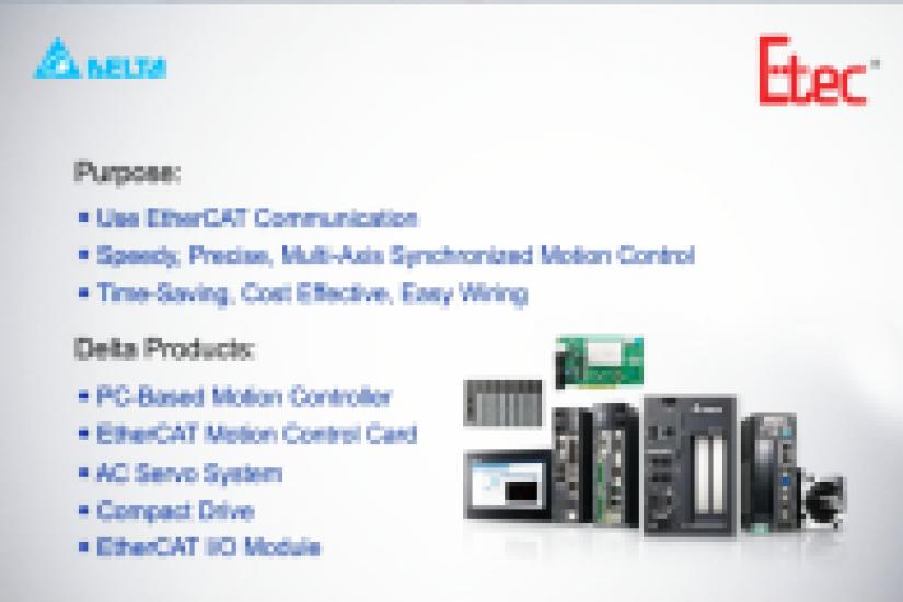 ETEC giới thiệu giải pháp Delta-Giải pháp kiểm soát chuyển động đa trục PC của Delta